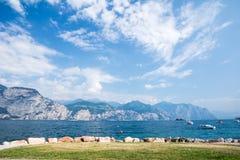 Lake Garda. Water front of Lake Garda (Italy Stock Photo