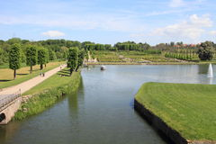 Lake and garden of Frederiksborg Castle Stock Images