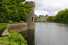 Lake and gardens in irish castle of Johnstown Royalty Free Stock Image