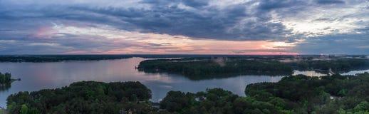 Lake Gaston Sunset. Sunset over the lake at Lake Gaston Stock Photos