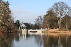 Lake and Gazebo Royalty Free Stock Photography