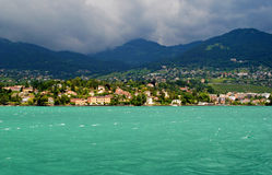 Lake Geneva. A view of Lake Geneva in Switzerland Royalty Free Stock Photos