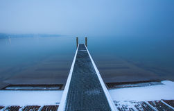Lake Geneva Boat Pier Stock Photography