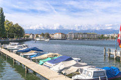 Lake in geneva Royalty Free Stock Photos