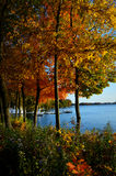 Lake Geneva, Covenant Harbor, Fall Colors Stock Photo