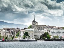 Lake Geneva Embankment Stock Photos
