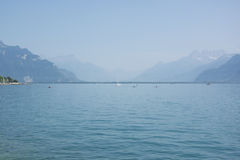 Lake Geneva or Lac Léman in the Summer Stock Image