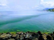 Lake Geneva Landscape stock image