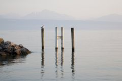 Lake Geneva, Lausanne, Switzerland Stock Photos