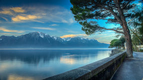 Lake Geneva Morning HDR. Early morning view of Lake Geneva HDR Royalty Free Stock Photography