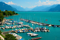 Lake Geneva Port royalty free stock photography