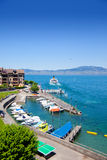 Lake Geneva, port Saint Gingolph Royalty Free Stock Photography