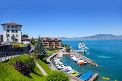Lake Geneva, Saint Gingolph Stock Image