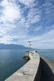 Lake Geneva seen from Vevey royalty free stock photos