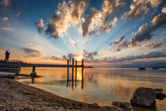 Lake Geneva Sunrise Stock Images