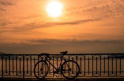 Lake Geneva at sunset Royalty Free Stock Images