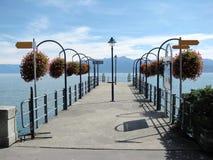 Lake Geneva, Switzerland. Lake Geneva ( Leman ) view from Morges city, Switzerland Stock Photography