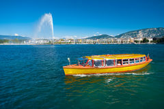 Lake Geneva Water Taxi Stock Photos