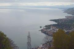 lake genewie montreux Switzerland Obraz Royalty Free