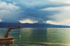 lake genewie Szwajcarii Obraz Royalty Free