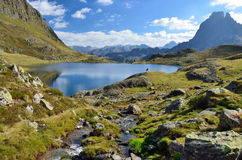 Lake Gentau in the Bearn Pyrenees Stock Image