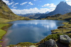 Lake Gentau in the French Pyrenees Royalty Free Stock Photos