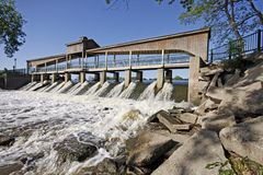 Lake George Dam. Landscape view of the Lake George Dam in Hobart, Indiana (USA Stock Images