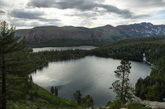 Lake George and Lake Mary in Mammoth Lakes Stock Photography