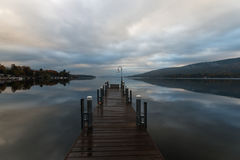 Lake George at sunrise Stock Photography