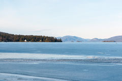 Lake George Winter Stock Photo
