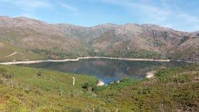 Lake at Geres. Mountains and lake at Geres Portugal royalty free stock photo