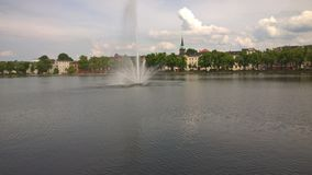 Lake. Germany schwerin lake from great view Royalty Free Stock Image