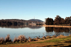 Lake Ginninderra Belconnen Canberra Australia. Black mountain tower royalty free stock photography