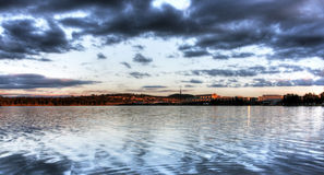 Lake Ginninderra at Sunset Royalty Free Stock Photography