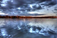 Lake Ginninderra at Sunset Royalty Free Stock Image