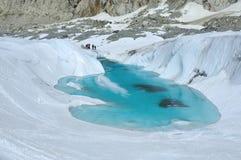 Lake on glacier Stock Photo