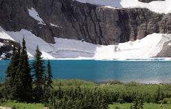 Lake and  Glacier in Background Royalty Free Stock Photos