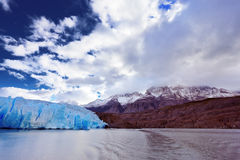 Lake and Glacier Grey. The clouds Royalty Free Stock Image