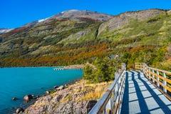 Lake at glacier Perito Moreno in Patagonia. South America Royalty Free Stock Photography