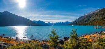 Lake at glacier Perito Moreno in Patagonia. South America Stock Photos