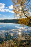 The lake in Belarus in the sunlight royalty free stock photos