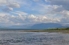 Lake Glubokoe on the Putorana plateau. Royalty Free Stock Photo