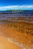 Lake Gogebic Beach Landscape Stock Images