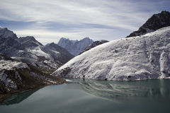 Lake Gokyo in Himalayas, Nepal Stock Image