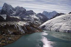 Lake Gokyo in Himalayas, Nepal Royalty Free Stock Images