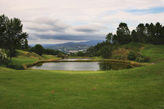 Lake in golf Stock Photo