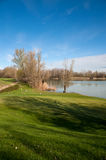 Lake of Golf club Casalunga, Bologna Royalty Free Stock Images