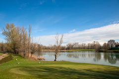 Lake of golf club Casalunga, Bologna Royalty Free Stock Photography