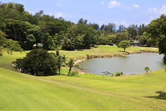 Lake on golf course at the Constance Lemuria Royalty Free Stock Images