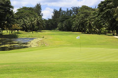 Lake on golf course at the Constance Lemuria Royalty Free Stock Photography